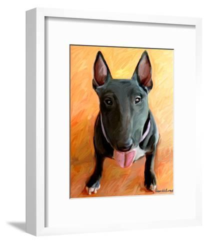 Bull Terrier Rhino-Robert Mcclintock-Framed Art Print