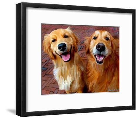 Ginger and Nutmeg-Robert Mcclintock-Framed Art Print