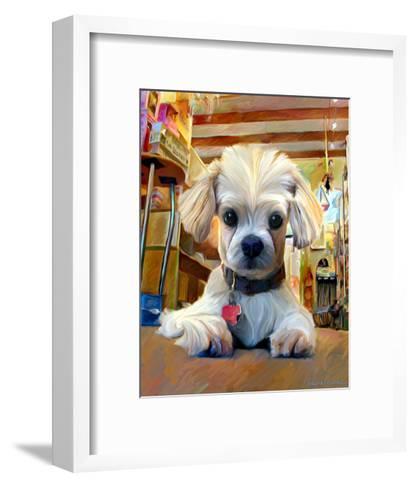 Mazel Dog-Robert Mcclintock-Framed Art Print