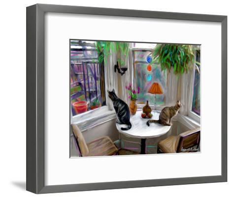 Cat's Messing-Robert Mcclintock-Framed Art Print