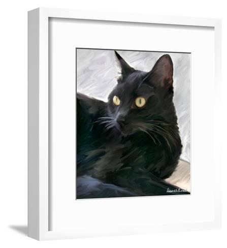Black Cat Portrait-Robert Mcclintock-Framed Art Print