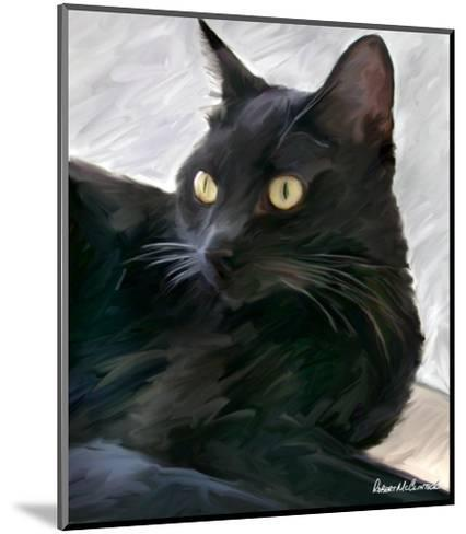 Black Cat Portrait-Robert Mcclintock-Mounted Art Print