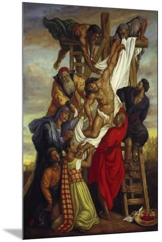 Descent from the Cross-Tim Ashkar-Mounted Art Print