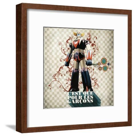 C'Est Que Pour les Gar?ons (Only for Boys)-Florence Weiser-Framed Art Print