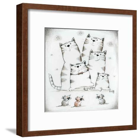 Festival des Grands Chats-Joelle Wolff-Framed Art Print