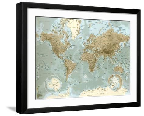 Planisphère--Framed Art Print