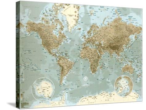 Planisphère--Stretched Canvas Print
