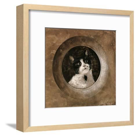 The Black and White Cat-Pascal Cessou-Framed Art Print