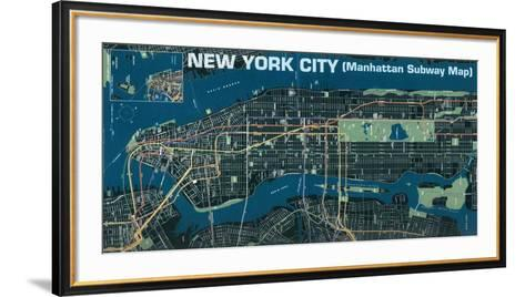 Manhattan Subway Map--Framed Art Print