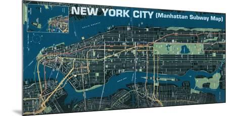Manhattan Subway Map--Mounted Art Print