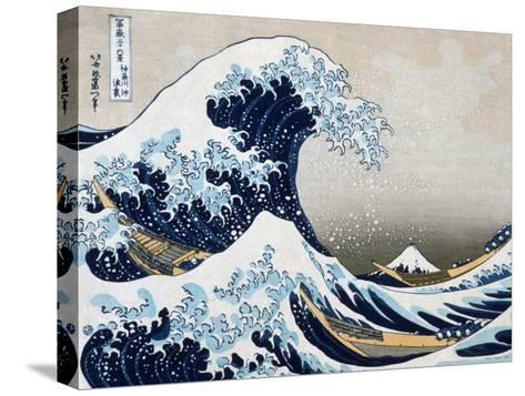 The Great Wave at Kanagawa (from 36 views of Mount Fuji), c.1829-Katsushika Hokusai-Stretched Canvas Print