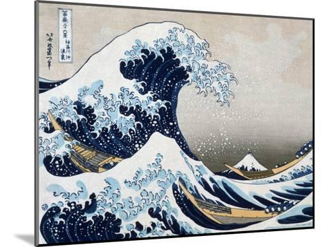 The Great Wave at Kanagawa (from 36 views of Mount Fuji), c.1829-Katsushika Hokusai-Mounted Art Print