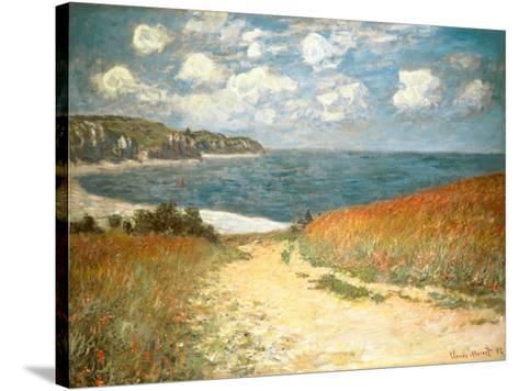 Path Through the Corn at Pourville, c.1882-Claude Monet-Stretched Canvas Print