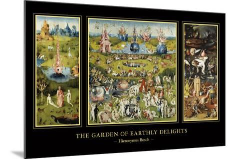 The Garden of Earthly Delights, c.1504-Hieronymus Bosch-Mounted Art Print