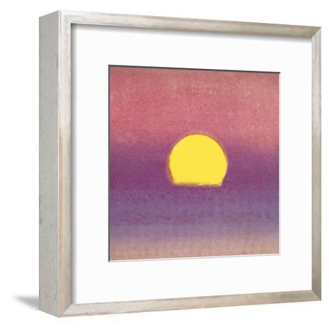 Sunset, c.1972 (pink, purple, yellow)-Andy Warhol-Framed Art Print