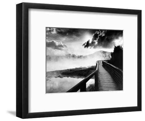 Walkway over the Lake--Framed Art Print
