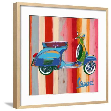 Pop Vespa II-Valerio Salvini-Framed Art Print