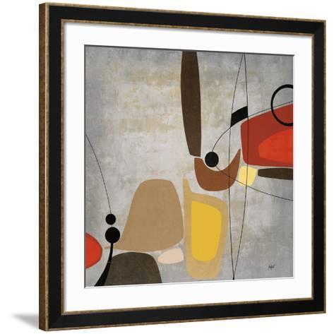 Logic & Balance II (silver)-Danielle Hafod-Framed Art Print