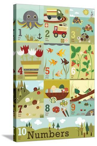 Counting to Ten-Jenn Ski-Stretched Canvas Print
