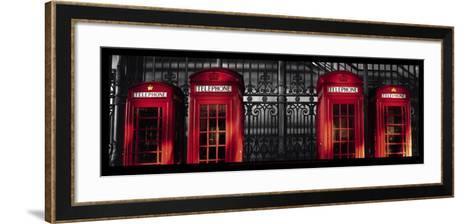 Red Telephone Boxes, London-Stephane Rey-Gorrez-Framed Art Print