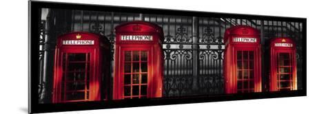 Red Telephone Boxes, London-Stephane Rey-Gorrez-Mounted Art Print