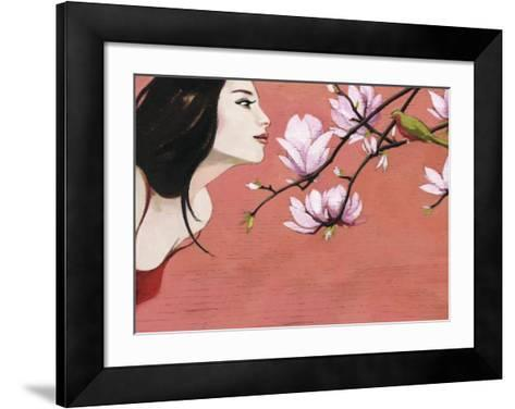 Camellia-Aline Bereau-Framed Art Print