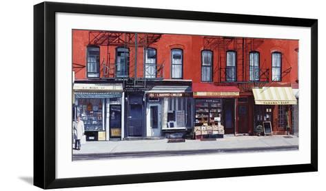 Four Shops on 11th Avenue, New York, c.2003-Anthony Butera-Framed Art Print