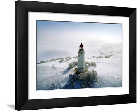 Lighthouse, Hidensee Island, Germany-Eller Brock-Framed Art Print