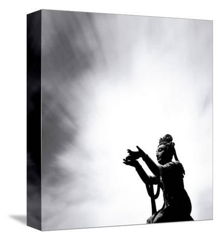 Buddha Offering, Lantou Island,Hong Kong-Michael Kenna-Stretched Canvas Print