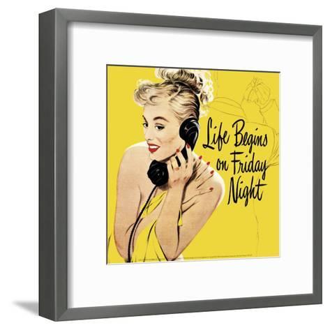Life Begins on Friday Night--Framed Art Print