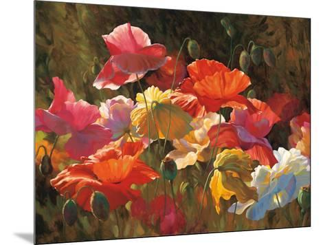Poppies in Sunshine-Leon Roulette-Mounted Art Print