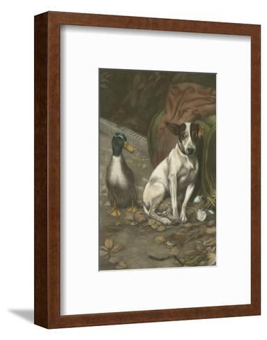 Guilty Conscience-William Weeks-Framed Art Print
