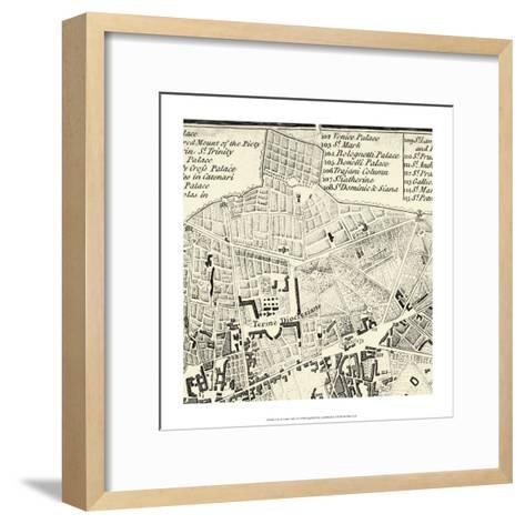 City of Rome Grid II--Framed Art Print