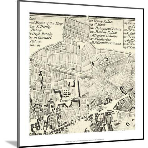 City of Rome Grid II--Mounted Giclee Print