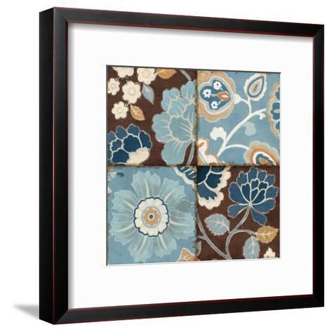 Patchwork Motif Blue II-Pela Design-Framed Art Print