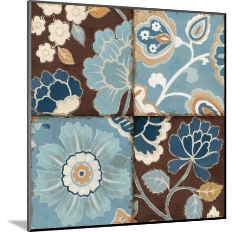 Patchwork Motif Blue II-Pela Design-Mounted Art Print