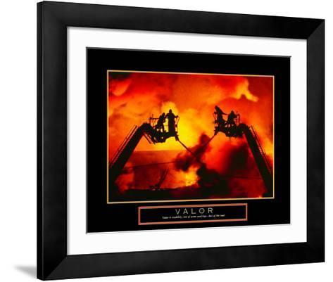 Valor: Firefighter--Framed Art Print