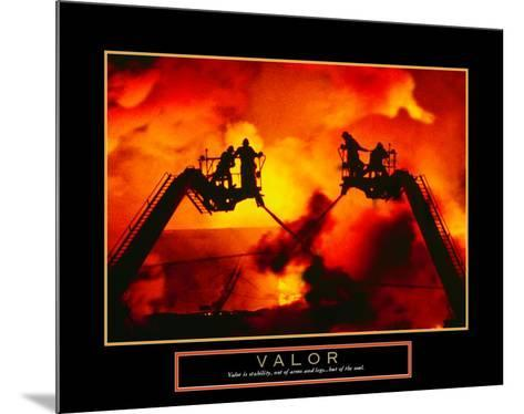 Valor: Firefighter--Mounted Art Print