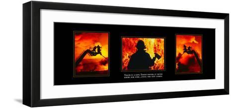 Valor: Firefighter Triptych--Framed Art Print