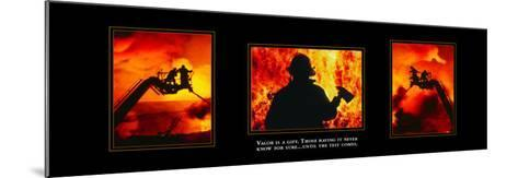 Valor: Firefighter Triptych--Mounted Art Print