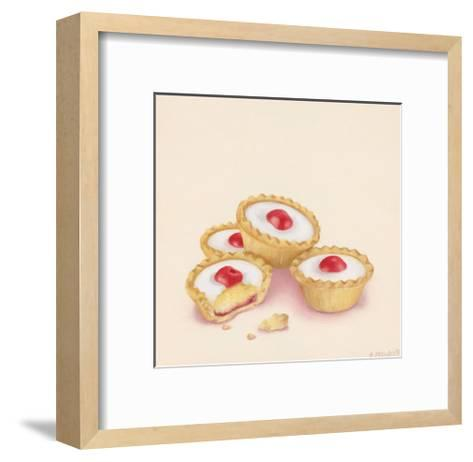 Can I Leave the Cherry?-Sheila Marshall-Framed Art Print