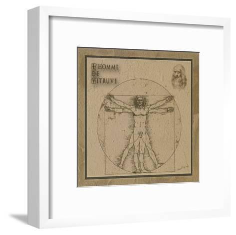 L'Homme de Vitruve--Framed Art Print