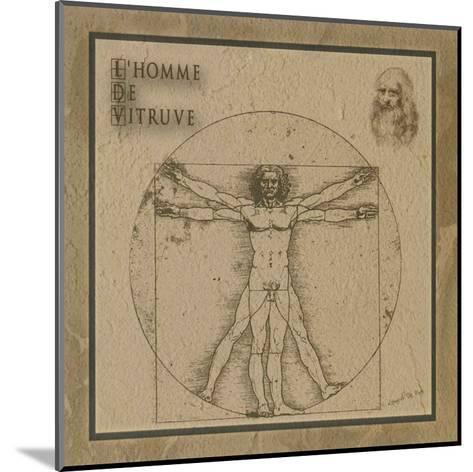 L'Homme de Vitruve--Mounted Art Print