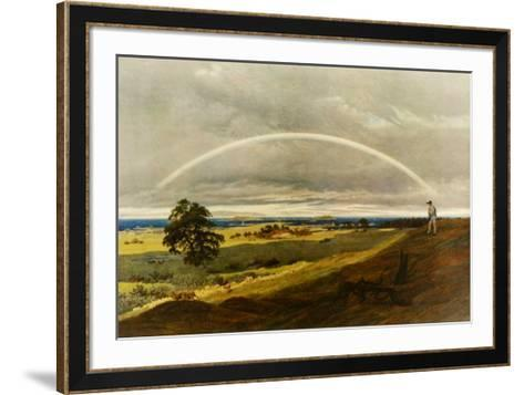 Landscape with Rainbow-Caspar David Friedrich-Framed Art Print