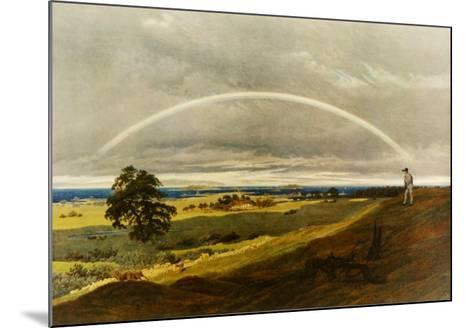 Landscape with Rainbow-Caspar David Friedrich-Mounted Collectable Print