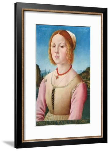 Portrait of a Young Girl, Noli Me Tangere-Lorenzo Credi-Framed Art Print