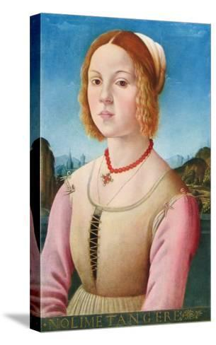 Portrait of a Young Girl, Noli Me Tangere-Lorenzo Credi-Stretched Canvas Print