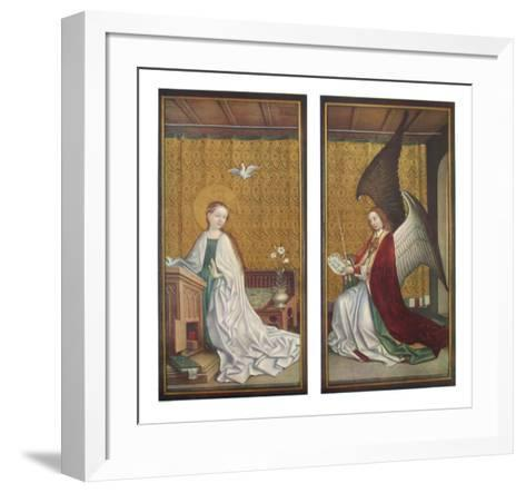 The Annunciation-Stephan Lochner-Framed Art Print