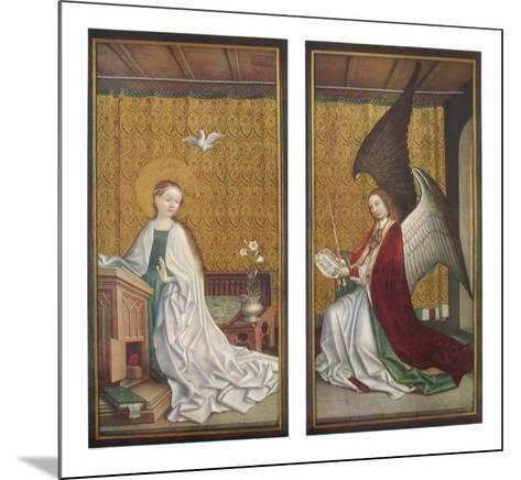 The Annunciation-Stephan Lochner-Mounted Collectable Print