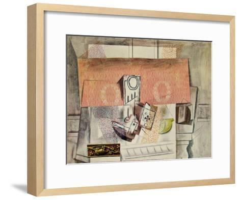 Still Life with Red Carpet-Pablo Picasso-Framed Art Print